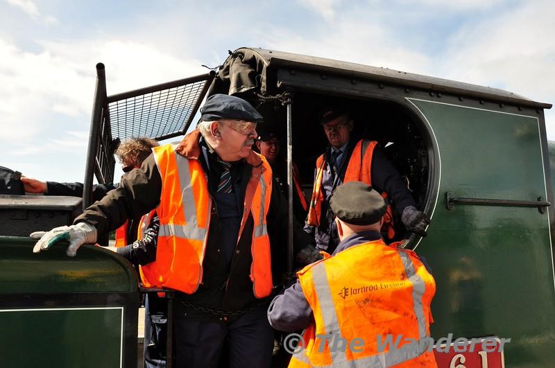 The train crew at Portarlington. Fri 19.06.15