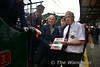 RPSI Dublin Ops Officer , Joe McKeown presents Steam Driver, Noel Playfair of York Road shed with a presentation to thank him for his attendance and dedication towards this trip to Rosslare, And most of all, Making history, Being the first NIR driver to work steam past Dublin since 1911. Thurs 16.06.16