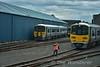 2606 + 2615 and 2819 + 2820 at Limerick Depot. Fri 17.06.16