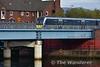 4011 crosses the Lagan Bridge in Belfast with the 1010 Great Victoria Street - Portrush. Sun 30.10.16
