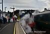 """85 """"Merlin"""" runs around the train at Castlerock. Sun 30.10.16"""