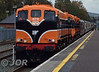 073 + 071 arrive into Killarney with the 1150 Cork - Tralee leg of the RPSI Munster Double Railtour. Sat 14.10.17 <br /> <br /> Photo courtesy of JOR.
