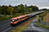 """073 + 071 make a fine sight and sound at Stacumny Bridge with the 0805 Connolly - Cork RPSI """"The Munster Double"""" double Spl. This was the first (official!) working of 071 Class in multiple as the use of this facility has traditionally been banned on the """"big GM's"""". Sat 14.10.17"""