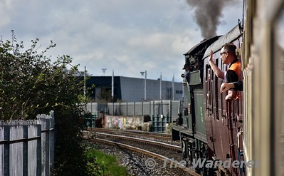 461 climbs out of Connolly towards Liffey Jct. with the 1400 Connolly - Maynooth Spl. Sun 19.03.17