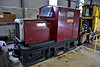 Inside the new maintenance shed at Stradbally. Nippy on display. Sun 24.09.17