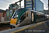 """22055 at the new bay platform at Grand Canal Dock ready to form the 0750 Grand Canal Dock - Maynooth leg of the BLS """"The Fairview Failte"""". Sun 06.05.18"""