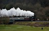 No. 4 storms up the grade from Arklow to Rathdrum and is pictured storming past Woodenbridge Golf Club with the 1520 Arklow - Wicklow - Connolly Spl. Mon 02.04.18
