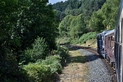 072 heading the Sea Breeze Spl. to Dublin between Woodenbridge and Rathdrum. Sun 08.07.18