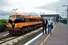 Jim Deegan and Frank Dawson stand in front of 071 at Ennis. Wed 13.06.18