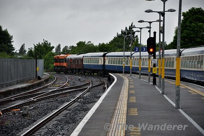The Emerald Isle Express leaves Athlone for Claremorris. Wed 13.06.18