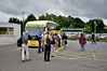 Guests alighting from the train at Ennis for a road coach tour of Clare and Galway/Wed 13.06.18