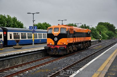 071 runs around its train for the final time today at Athlone. Wed 13.06.18