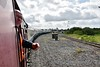Once watering of 85 was completed, the RPSI Special was propelled from Limerick Jct's. Platform 1 to the Pocket Loop to allow No. 85 to be turned on the triangle. Here we see Guard Noel Enright controlling the propelling movement. Fri 06.09.19