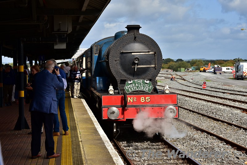 "85 stands at Limerick Jct. during a water stop on the 1033 Connolly - Killarney ""Emerald Isle Explorer"" Spl. Fri 06.09.19"