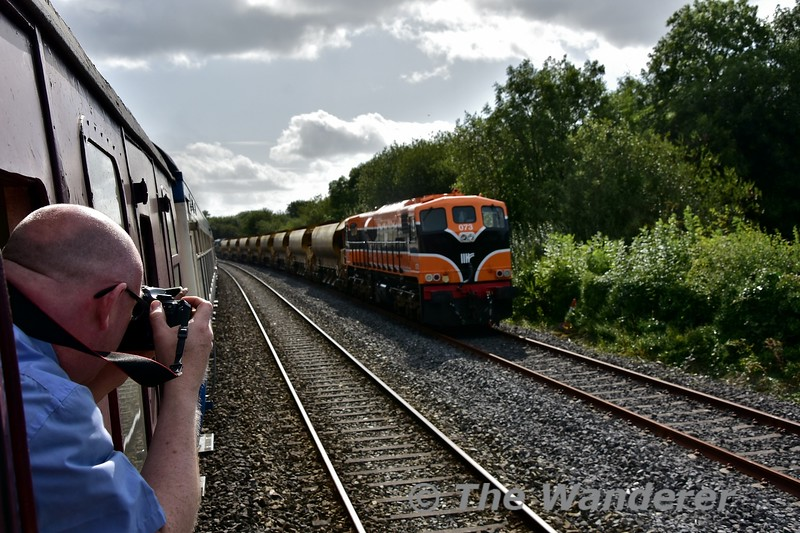073 and 082 are pictured stabled in Charleville Up Siding with a HOBS train.Fri 06.09.19