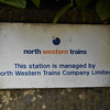 "1st June 2016 <br /> <br /> Upholland Station on the Kirkby line <br /> <br /> While doing the stations on the Kirkby line i found this gem of a old <br /> <br /> North Western Trains sign <br /> <br /> Short lived compnay this they started operating in the North West <br /> <br /> on 2nd March 1997 but by March 1998 the compnay was brought <br /> <br /> out by First group and re branded as First North Western mention of <br /> <br /> the above which is al i could find in the history section of the <br /> <br /> Wikipedia link below <br /> <br /> <a href=""https://en.wikipedia.org/wiki/First_North_Western"">https://en.wikipedia.org/wiki/First_North_Western</a>"