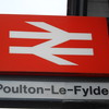 29th April 2016 <br /> <br /> Old style BR plastic sign at Poulton-Le-Fylde