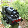 Model Steam Loco just off Plat on Preston Side