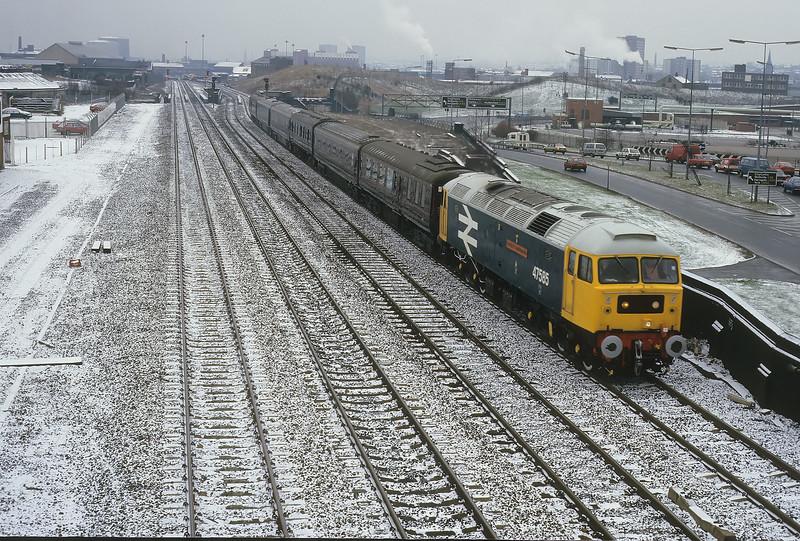 47585 tnt 47457 - Armley Royal train - 20/2/1987