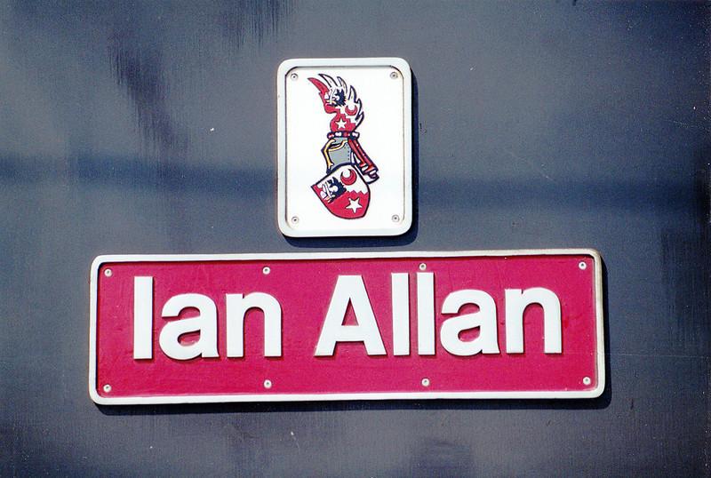 91007 'Ian Allan' Nameplate - Leeds - 29th May 1993