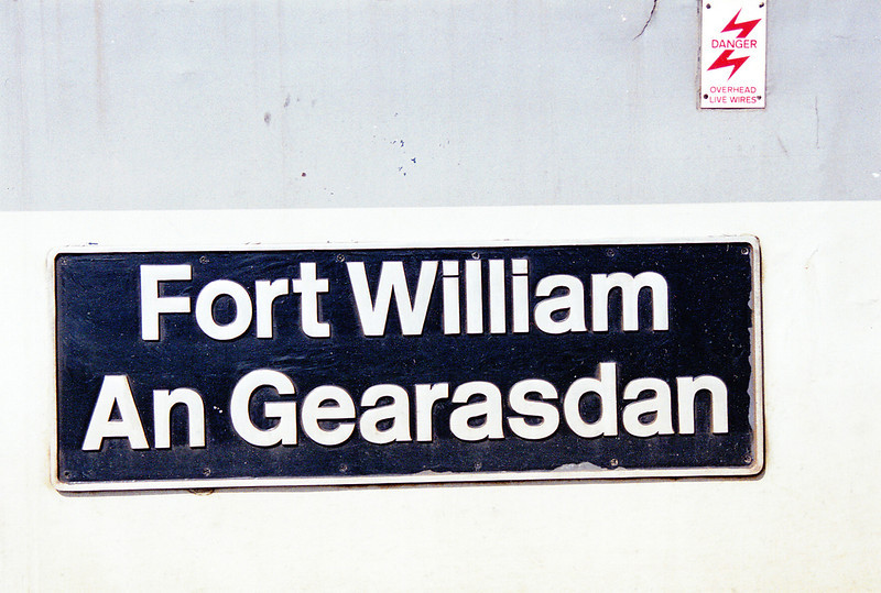 37073 'Fort William An Gearasdan' Nameplate 31st May 1993