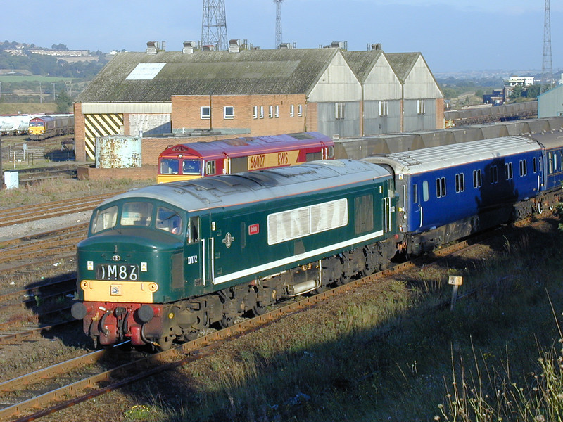 D172 'Ixion' passes through HM with an ECS from Crewe to Whitby on August 27th 1999