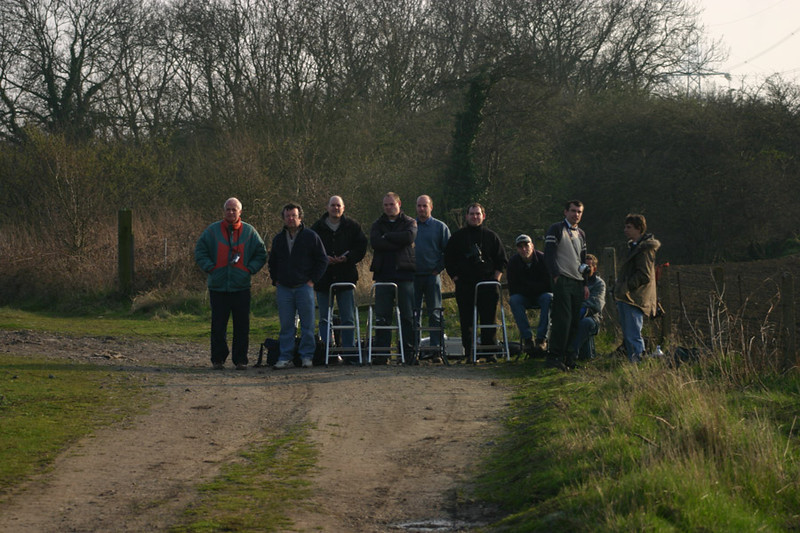 The crowds turn out en masse for the grid farewell.  Burton Lane Crossing 31/03/2004