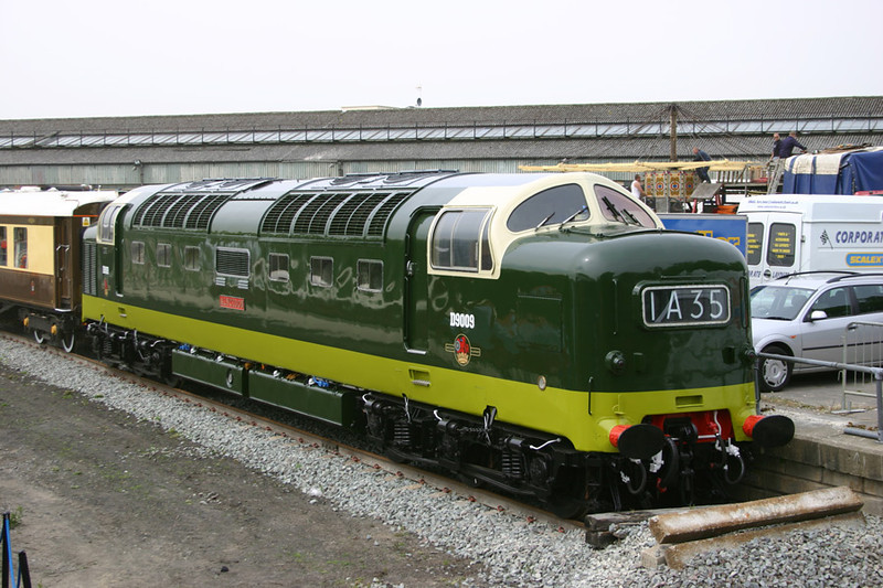 D9009 'Alycidon' in as built condition at Railfest at the NRM 28th May 2004