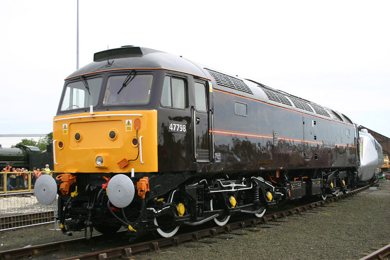 47798 'Prince William' was repainted by EWS before being donated to the NRM