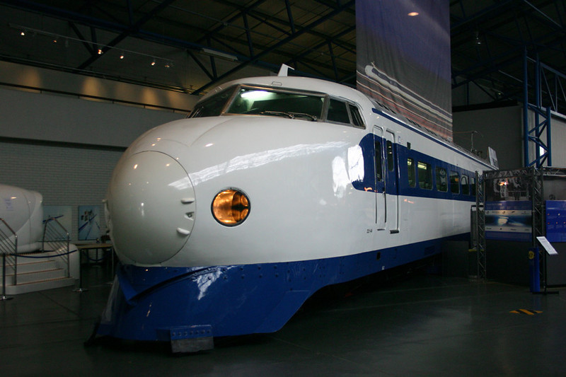 Japanese Bullet train in the main building