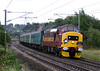 37411 growls past Kirkstall with the last Northbound loco hauled service a 1M53 09:06 York to Carlisle on September 25th 2004