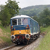 E6006+E6005 lean into the curve climbing up from Damems Loop with the 12:20 Oxenhope to Oakworth on 18th JUne 2005