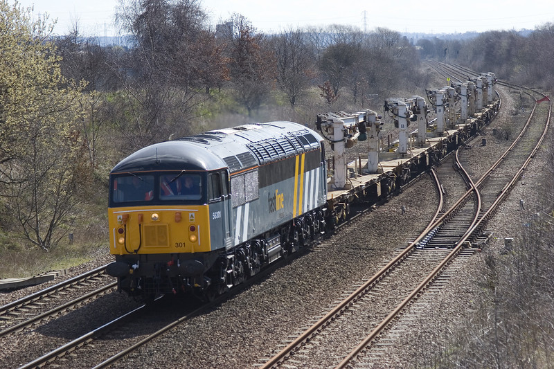 56301 at Treeton on her second day of Main Line testing with a 6Z57 12:15 Derby to Hexthorpe on 5th April 2006