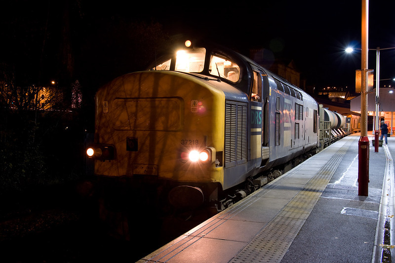 37218 at Halifax at the head of the 3S23 23:00Hall Royd Jcn to Ilkley on 2nd December 2007