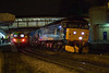 47790 at speed through Dewsbury working a 6Z51 Reading to York RHTT positioner on 15th November 2011.