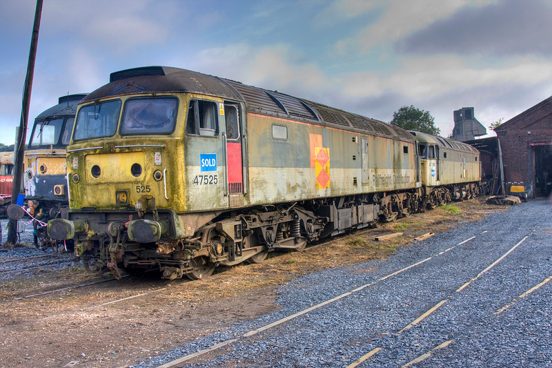 47525 + 47368 at the WCRC Carnforth Open Day July 26th 2008