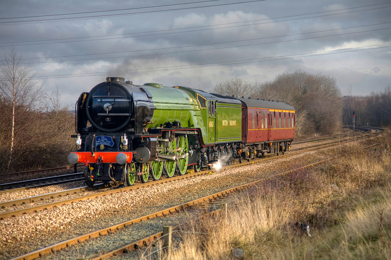 "60163 ""Tornado"" is seen passing Stourton, Leeds with a 5Z63 NRM-NRM (via Leeds) on January 28th 2009."