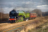 """60163 """"Tornado"""" is seen passing Stourton, Leeds with a 5Z63 NRM-NRM (via Leeds) on January 28th 2009. I have removed the power lines in photoshop"""