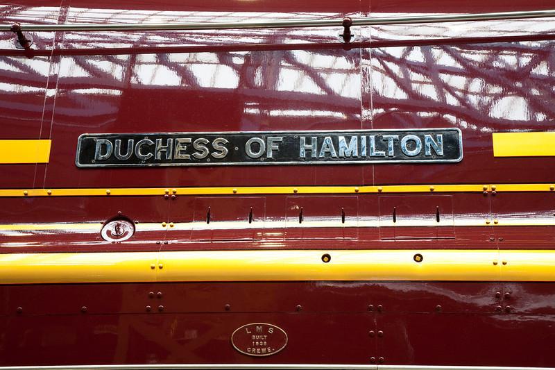 46229 Duchess of Hamilton nameplate NRM May 22nd 2009