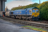 66623 stands in the yard at Dewsbury Cement Terminal after arrival with a 6M91 from Earles Sidings on November 9th 2010