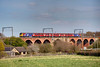 321903 crossing Shay Lane Viaduct at Crofton with the 13:40 Leeds to Doncaster on April 22nd 2010