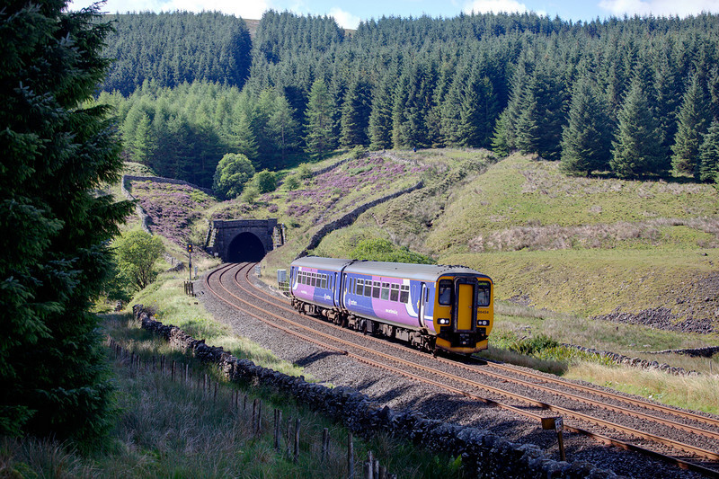 156424 is seen at Blea Moor with a 10:00 Preston to Carlisle service on August 29th 2010