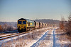 66518 passing Ravensthorpe with a 4S41 Sudforth Lane to Hunterstone Heavey Haul service on December 6th 2010
