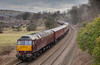 47786 brings up the rear of a 5Z36 12:50 Doncaster to Carnforth WCRC ECS passing Batley (47804 on front) on February 4th 2010.