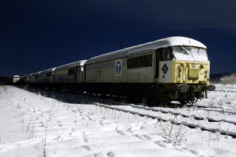 56099 and friends shiver in HM yard on January 6th 2010.