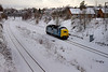55022 in Horbury cutting with an 0Z55 Bury to Barrow Hill on January 6th 2010.