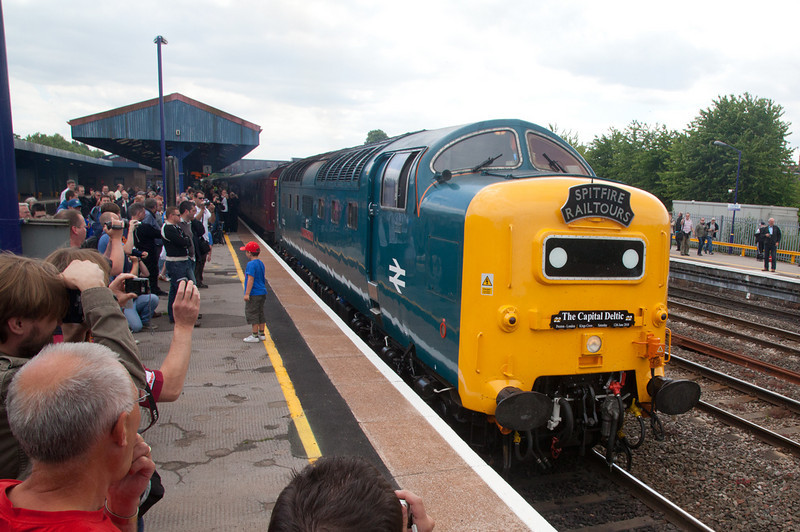 "55022 after arrival at journeys end with the 1Z55 06:00 Preston to Oxford ""Capital Deltic"" on June 12th 2010"