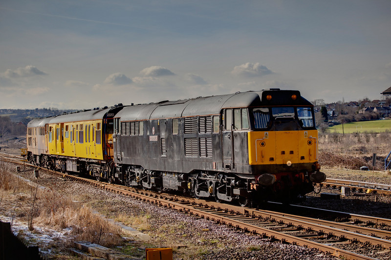 31602 seen after reversal at Horbury Junction with a 2Q08 Doncaster to Doncaster on March 2nd 2010.