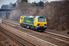 70002 in horbury cutting with an 0Z70 Crewe to Midland Road on March 11th 2010.