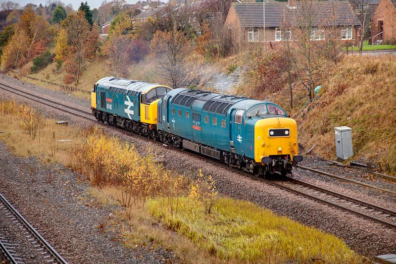 55022+40145 - 0Z55 Castleton to Barrow Hill - November 11th 2010.